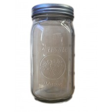 SOLD OUT - Aussie Mason 86mm Mouth (WIDE) 1000ml QUART Jars & Lids  x 12